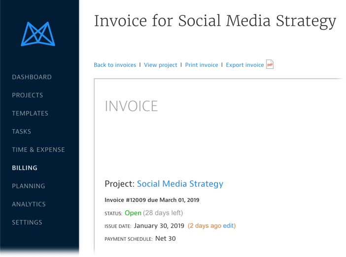 invoicing overview mavenlink support
