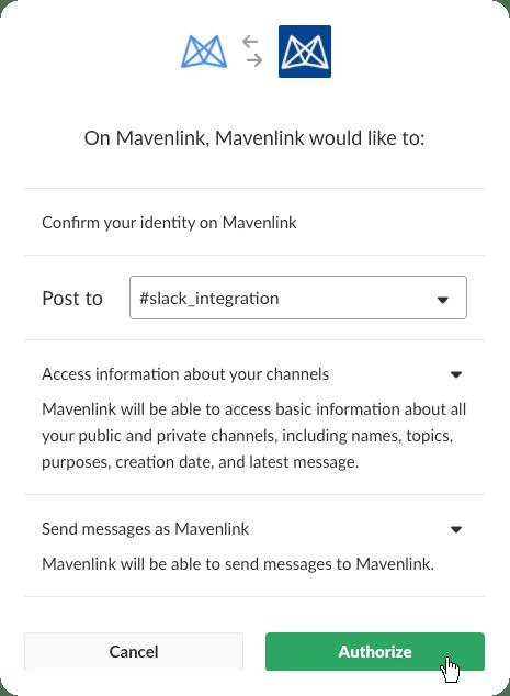 Set up the Mavenlink Integration with Slack – Mavenlink Support